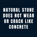 natural stone paving does not crack like concrete paving