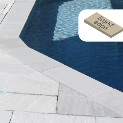 POOL COPING - 'Premiastone' Platinum-Natural Sandstone with a Smooth Finish & Eased Edge