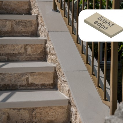 STEP COPING - 'Premiastone' Platinum-Natural Sandstone with a Smooth Finish & Eased Edge