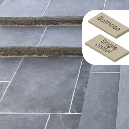 STEP COPING - 'Classicstone' Steel Blue-Natural Limestone with a Cleft Surface & Choice of Edge
