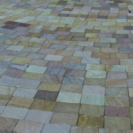 PATH PAVERS - 'De Terra' Harvest-Natural Sandstone with an Aged Finish