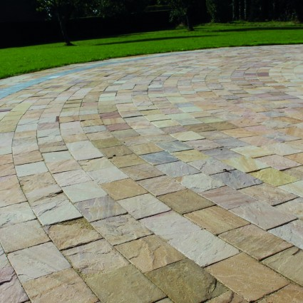 DRIVEWAY PAVERS - 'De Terra' Harvest-Natural Sandstone with an Aged Finish