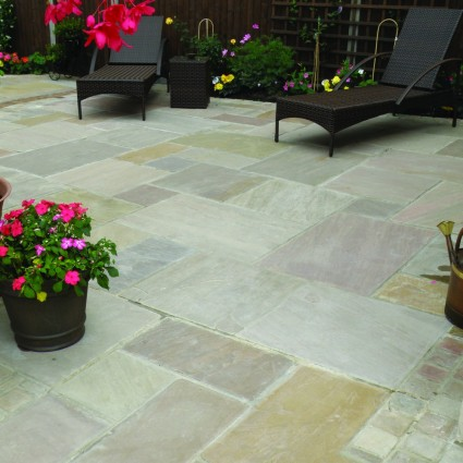 PATIO PAVERS - 'Classicstone' Lakeland-Natural Sandstone with a Cleft Finish