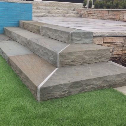 STEP TREADS - 'Classicstone' Lakeland-Natural Sandstone with a Cleft Finish