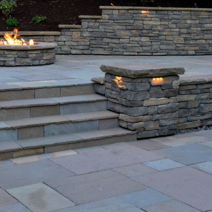 PIER CAPS - 'Classicstone' Lakeland-Natural Sandstone with a Cleft Finish & Chiselled Edge