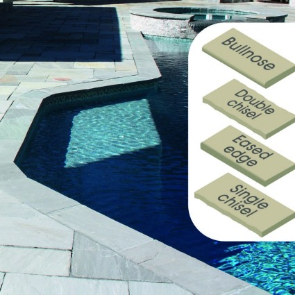 POOL COPING - 'Classicstone' Promenade-Natural Sandstone with a Cleft Surface & Choice of Edge