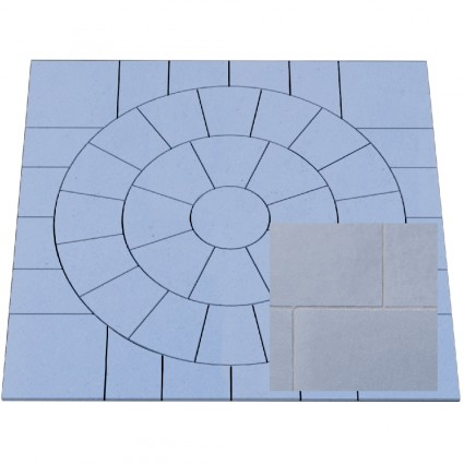 PAVING CIRCLE FEATURE KIT - 'Classicstone' Steel Blue-Natural Sandstone with a Cleft Finish