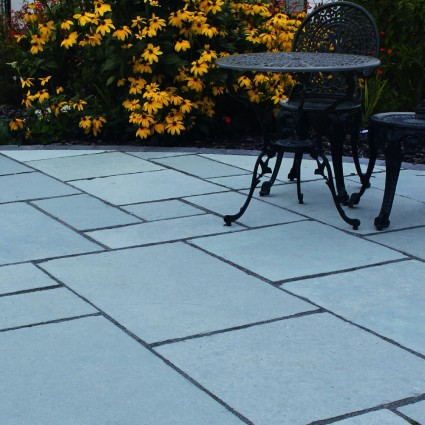 PATIO PAVERS - 'Classicstone' Steel Blue-Natural Limestone with a Cleft Finish