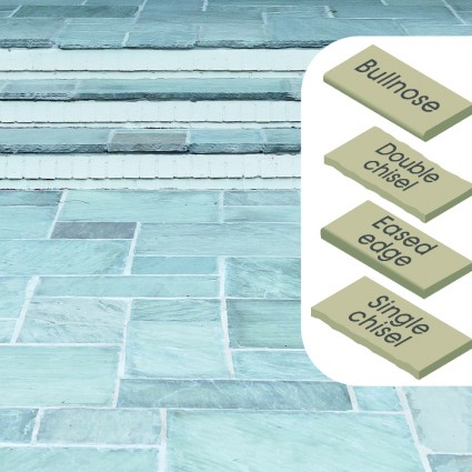 STEP COPING - 'Classicstone' Promenade-Natural Sandstone with a Cleft Surface & Choice of Edge