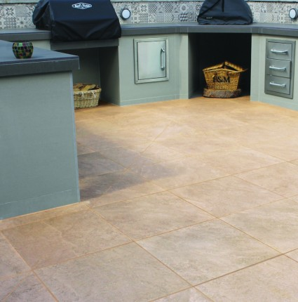 PATIO PAVERS - 'Vitripiazza' Oro-Porcelain with a Natural Stone Appearance