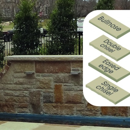 WALL COPING - 'Classicstone' Golden Fossil-Natural Sandstone with a Textured, Flat Finish & Choice of Edge