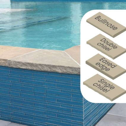 POOL COPING - 'Classicstone' Lakeland-Natural Sandstone wiith a Cleft Surface & Choice of Edge