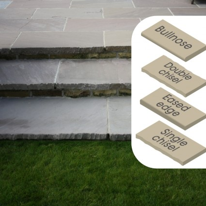 STEP COPING - 'Classicstone' Lakeland-Natural Sandstone with a Cleft Surface & Choice of Edge