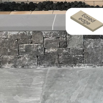 WALL COPING - 'Premiastone' Platinum-Natural Sandstone with a Smooth Finish & Eased Edge