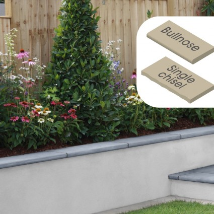 WALL COPING - 'Classicstone' Steel Blue-Natural Limestone with a Cleft Surface & Choice of Edge