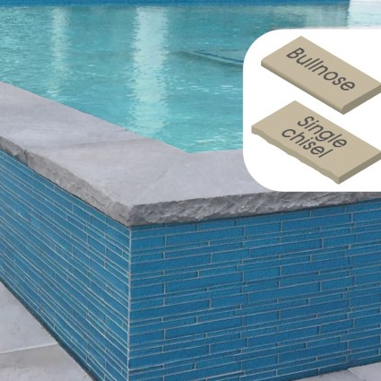 POOL COPING - 'Classicstone' Steel Blue-Natural Limestone with a Cleft Surface & Choice of Edge