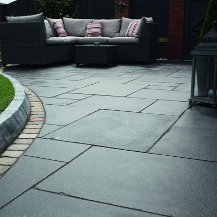 PATIO PAVERS - 'Classicstone' Charcoal-Natural Limestone with a Cleft Finish