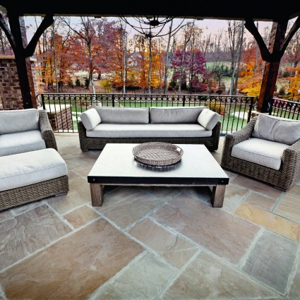 PATIO PAVERS - 'Classicstone' Harvest-Natural Sandstone with a Cleft Finish