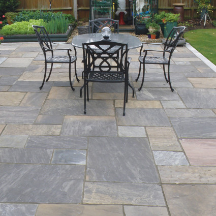 PATIO PAVERS - 'Classicstone' Graphite-Natural Sandstone with a Cleft Surface