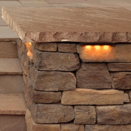 PIER CAPS - 'Classicstone' Harvest-Natural Sandstone with a Cleft Finish & Chiselled Edge