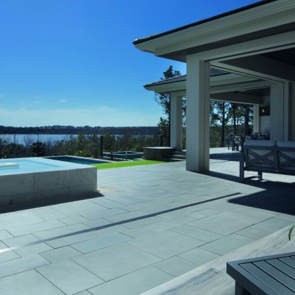 PATIO PAVERS - 'Premiastone' Platinum-Natural Sandstone with a Smooth Finish