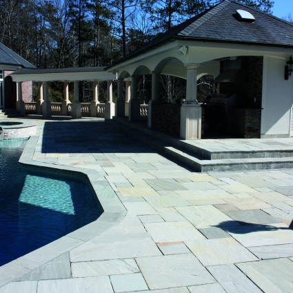 PATIO PAVERS - 'Classicstone' Promenade-Natural Sandstone with a Cleft Surface