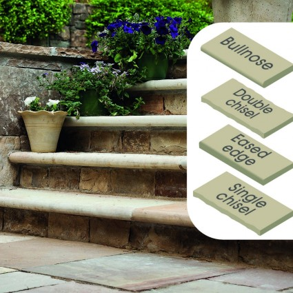 STEP COPING - 'Classicstone' Harvest-Natural Sandstone with a Cleft Surface & Choice of Edge