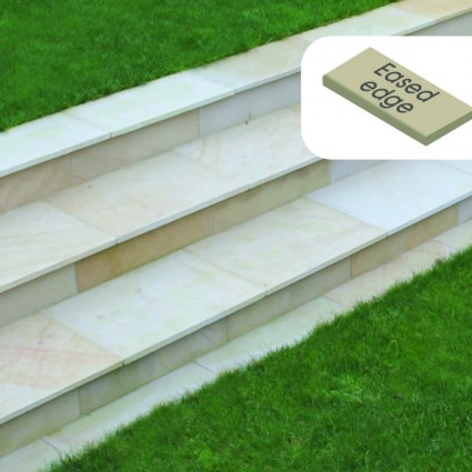 STEP COPING - 'Premiastone' Ivory-Natural Sandstone with a Smooth Finish & Eased Edge