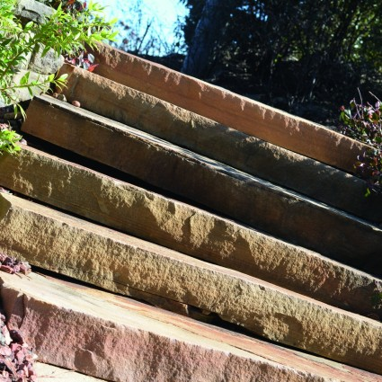 STEP TREADS - 'Classicstone' Harvest-Natural Sandstone with a Cleft Finish