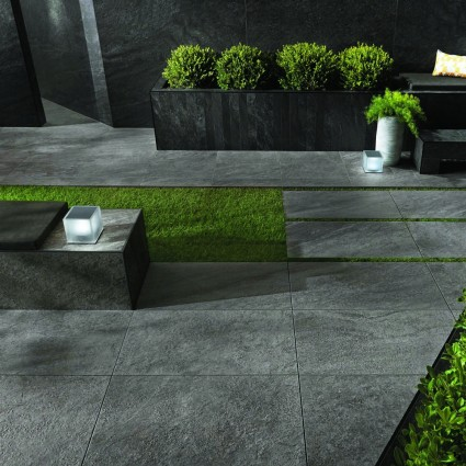 PATIO PAVERS - 'Vitripiazza' Cenere-Porcelain with a Natural Stone Appearance