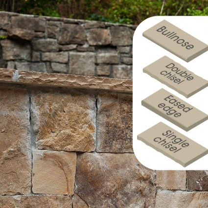 WALL COPING - 'Classicstone' Harvest-Natural Sandstone with a Cleft Surface & Choice of Edge